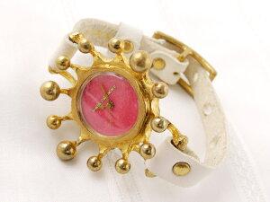GothicLaboratoryミルククラウン腕時計ピンクアンティークレディースかわいい個性的おしゃれブレスレット革ベルト手作りお誕生日プレゼント【楽ギフ_包装選択】【楽ギフ_送料無料】【RCP】05P02Mar14