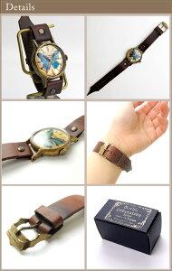 GothicLaboratory世界一美しい蝶モルフォ蝶の腕時計L/レディース腕時計女性用ハンドメイド手作り腕時計バタフライヴィンテージビンテージ牛革クラシック/