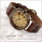 Mari Goto アンティークな腕時計 Calm M腕時計 レディース かわいい 革ベルト 手作り 時計 ゴールド 人気 お誕生日 プレゼント ギフト 入学祝い 入社祝い Gothic Laboratory 【送料無料】 02P30May15
