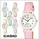 CASIO カシオ アナログ腕時計 レディース 革ベルト ピンク/水色/ラベンダー/イエロー LQ-139L-2B/LQ-139L-3B/LQ-139L-4B1/LQ-139L-4B2/LQ-139L-6B/LQ-139L-9B
