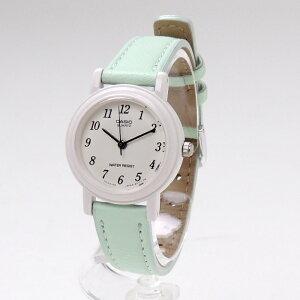 CASIO腕時計レディース革ベルトかわいい〈パステルカラー〉【海外モデル】【正規品】かわいいピンクブルーグリーンパープルラベンダー人気生活防水お誕生日プレゼント[LQ-139L-2B]【送料無料】