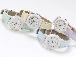 CASIOレディース腕時計〈パステルカラー〉【海外モデル】【正規品】革ベルトかわいい生活防水ピンクブルーグリーンパープルラベンダー人気お誕生日プレゼント[LQ-139L-2B]【送料無料】