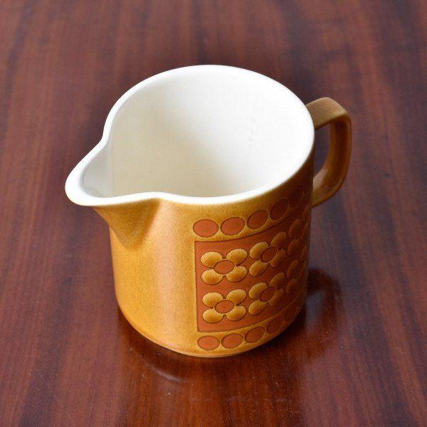 IZ42242Y★HORNSEA サフラン ミルクジャグ サフロン Saffron イギリス ヴィンテージ キャメルカラー 英国 ビンテージ クリーマー 食器 陶器