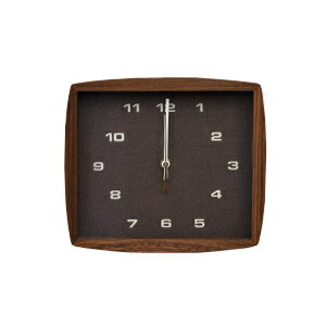 ■ La Luz Inc. (La Luce) ■ Form clock フォルムク clock Brown (wall clock wall clock wooden simple tabletop solid material public facility platform school glass quiet bedroom living clock Interior natural)
