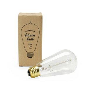 Edison Bulb エジソンバルブ Signature(S) E26 40W(アンティーク 照明 裸電球 レトロ電球 カフェ 間接照明 インテリア照明 エジソンランプ シグネチャー 口径26 40ワット エジソン電球 )