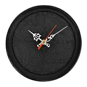 ■ goodygrams ■ ETRANGE CLOCK Black Lace, clock, analog clock, elegant, luxury modern, European, display goods, art, classic, Interior goods,