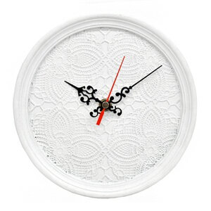 ■ goodygrams ■ ETRANGE CLOCK white race, clock, analog clock, elegant, luxury modern, European, display goods, art, classic, Interior goods,