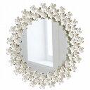 デイジー ウォールミラー BM-13(壁掛け鏡 壁鏡 ミラー 花 クラシック アンティーク ブロカント フレンチアンティーク 壁かけミラー か..