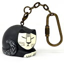 Lisa Larson (Risa Larson)  mini-animal key ring black cat (Sweden art object cat neko cat goods cat goods cat goods cat miscellaneous goods cat miscellaneous goods cat miscellaneous goods)  + designers  SS10P03mar13 