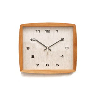 ■ La Luz Inc. (La Luce) ■ Form clock フォルムク clock natural (clock wall clock wooden simple tabletop solid material public facility platform school glass quiet bedroom living clock Interior natural)