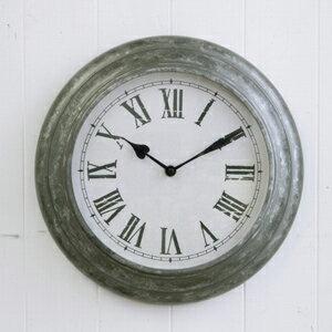 ブリキ ウォールクロック S (BR-31)(壁掛け時計 フレンチカントリー カフェ雑貨 シャビー カフェ パリ 小物 壁掛け クロック 時計 アンティーク ジャンク アンティーク雑貨 シンプル おしゃれ)