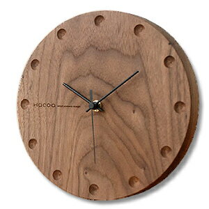 Hacoa hacoa wall clock-round Walnut H150-W ( wall clock-natural-wood )