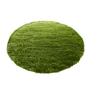 GRASS RUG (グラスラグ) Ф 150 (real-grass rugs, round, round and carpet)-natural +-