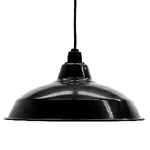 Retro enamel lamp 14 inch black (LED enamel, enamel, and better lighting would, enameled and lighting, ceiling lighting, Cafe and Nordic and sealing ceiling light interior lighting, living dining Cafe )