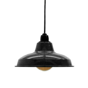 Retro enamel lamp 10-inch black (LED enamel, enamel, and it would, enameled and lighting, ceiling lighting, Cafe and Nordic and sealing ceiling light interior lighting, living dining Cafe lighting and antique )