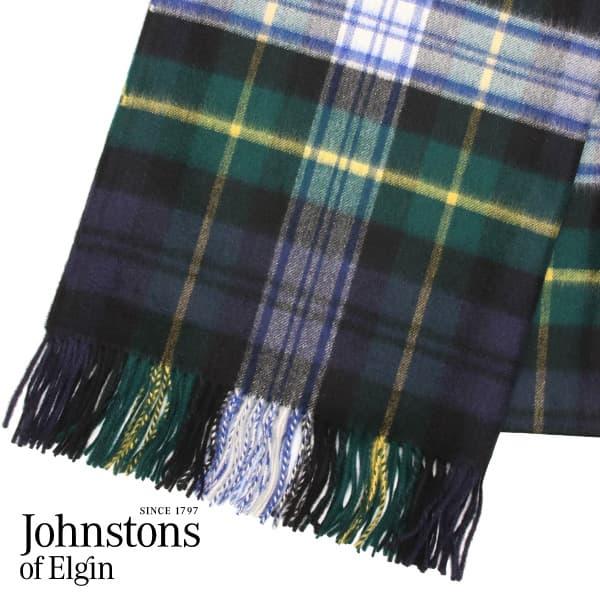 JOHNSTONS ジョンストンズ カシミア ストール タータンチェック ドレスゴードン 190×70cm DRESSGORDON WA000056 KU0312