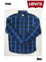 リーバイス Levi's - コットンチェックシャツ Cotton check Shirt ブルー×ブラック Blue×Black