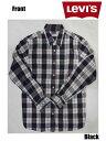 リーバイス Levi's - コットンチェックシャツ Cotton check Shirt ブラック×ホワイト Black×White