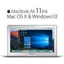 【Macbook air11】MacOSX & Win10 搭載 Win と マック これ1台で同時に使える。待望のコラボ。 Corei5 メモリ 4GB SSD 128GB wifi (Ear..