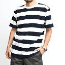 ショッピングOUTDOOR ボーダー Tシャツ メンズ レディース ユナイテッドアスレ United Athle ブランド Tシャツ 半袖 カットソー インナー トップス ワイドボーダー ナローボーダー おしゃれ カジュアル アメカジ アウトドア ストリート 綺麗め ルード ナチュラル ブラック ネイビー (56-562501)