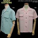 SAVOY CLOTHINGサヴォイクロージング◆SVY ラギットハンドステッチS/Sオープンシャツ