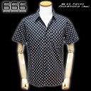 666  S/S  ドットシャツ  ブラック/ホワイトドット ( 6mm)