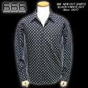 ◆666トリプルシックスNEW DOT SHIRTS×BLACK×WHITE6mmDOT