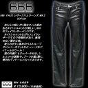 666トリプルシックス◆666 FAUX レザースリムジーンズ◆◆MK.2◆SOP221