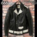 666トリプルシックス◆666 ジョニーサンダースカラー ライダースジャケット◆LJM-10JTF