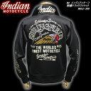 ◆INDIAN MOTOCYCLEインディアン・モトサイクルIM インディアンチーフ刺繍トラックジャケットBLACKIMSZ-309