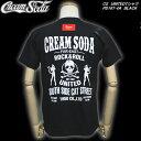 CREAM SODAクリームソーダ◆CS UNITED Tシャツ◆PD16T-04BLACK