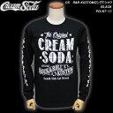 CREAM SODAクリームソーダ◆CS  R&R KUSTOMロングTシャツ◆◆ブラック◆PD16T-17