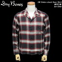 DRY BONESドライボーンズ◆DB Ombre check Open Shirtオンブレチェックシャツ◆◆RED◆DS-2292