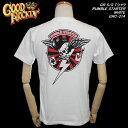 ◆Good Rockin'グッドロッキンS/S TシャツRUMBLE STARTER WHITEGRC-214