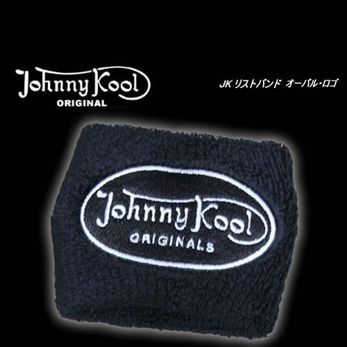 ◆JOHNNY KOOLジョニークール刺繍リストバンドオーバル・ロゴ