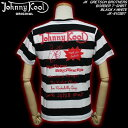 JOHNNY KOOLジョニークール◆JK GRETSCH BROTHERS BORDER T-SHIRT◆◆BLACK×WHITE◆JK-8103BT