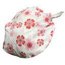 お祭用品 喧嘩かぶり 梅 [176白] お祭り衣装 お祭り用品 帽子 男女兼用 フリーサイズ