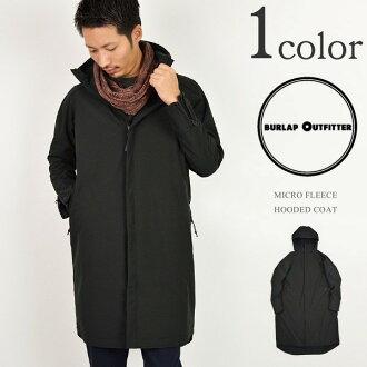 麻布用品 (burlapoutfitter) 羊毛連帽外套 / 男裝 / 微搖粒絨連帽外套