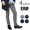 FOB FACTORY(FOBファクトリー) F0423 オノーフトラウザー コットンパンツ / テーパード スリムパンツ / メンズ / 日本製 / ON O...