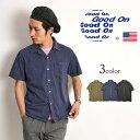 GOOD ON(グッドオン) 半袖 オープンカラー Tシャツ / 無地 / ピグメントダイ / アメリカ製生地 / 日本製 / GOST-1605