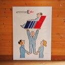 フランス Raymond Savignac サヴィニャック L:AIR FRANCE 1986 ポスター