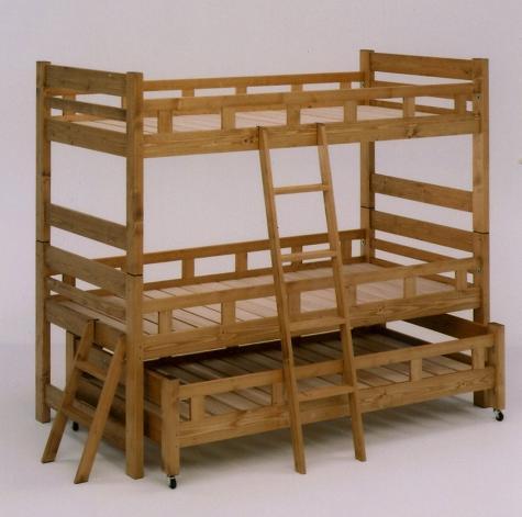 ベッド 3段ベッド 三段ベッド 親子ベッド スノコ 木製 マザー 親子3段ベッド ブラウン 05P05Nov16
