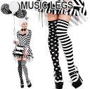 MusicLegs(ミュージックレッグ) モノトーンドット×ボ