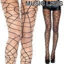 ショッピングハロウィン MusicLegs(ミュージックレッグス) スパイダーネットデザイン シアーストッキング/タイツ ML7148 蜘蛛の巣 コスプレ 魔女 コスチューム レディース ハロウィン仮装 A827-A828