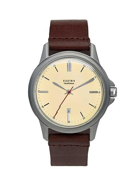 ELECTRIC エレクトリック WATCHES CARROWAY LEATHER CREAM/BROWN ウォッチ 腕時計 時計