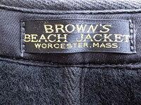 BROWN'SBEACHJACKET�֥饦�ӡ������㥱�å�BROWN'SBEACHVESTLOWNECKAGING�ݼ�٥���VINTAGEBLACK������ơ����֥�å�