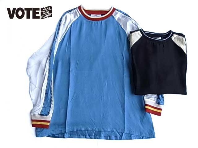 VOTE Make New Clothes ヴォート メイク ニュー クローズ SATIN SOUVENIR L/S サテン スーベニア ロングスリーブ