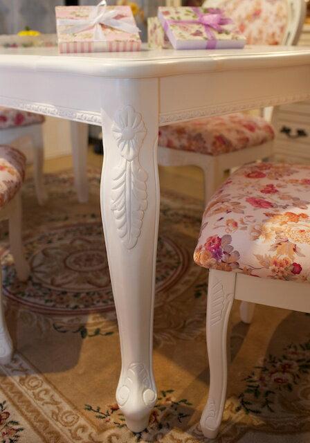天然木製ホワイトダイニングテーブルの紹介画像3