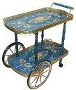 【輸入家具】イタリア製ワゴン(ブルー)