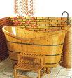 木風呂・天然木製浴槽(木製バスタブ、木の風呂、木の浴槽)